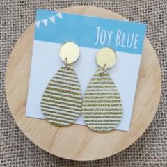 Gold glitter stripe earrings