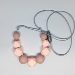 Silicone Necklace - Pink Necklace - Nursing Necklace - Teething Necklace - Baby
