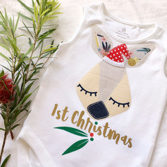 Express Post included Christmas Kangaroo Aussie Onesie Bodysuit