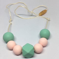 Silicone Beads Necklace - Nursing Necklace - Teething Necklace - Baby Shower Gif