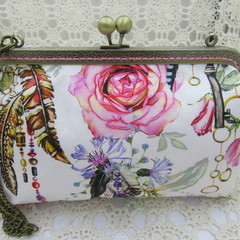 Ladies Clutch - Evening, Day, Wedding, Race Day, Garden Party - Boho Rose