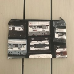 Retro cassettes pencil case
