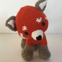 Rascal the Raccoon - crocheted, knitted, softies