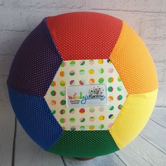 Balloon Ball: Rainbow: Dots & Dash with rainbow white centre