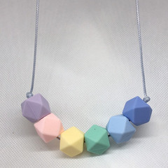 Silicone Bead Necklace -  Nursing Necklace - Teething Necklace -  Baby Shower Gi