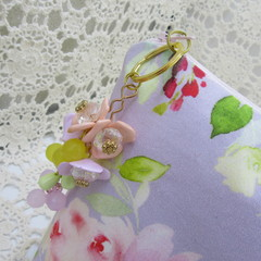 Ladies Clutch - Evening, Day, Wedding, Race Day, Garden Party -Lilac Floral