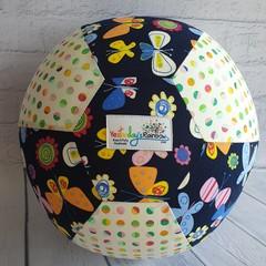 Balloon Balls: Butterflies, Flowers & Rainbow dots (on Navy)