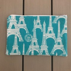 Teal Paris pencil case