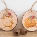 Native Australian Animals Rustic Wood Slice Ornaments