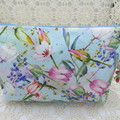 Ladies Clutch - Evening, Day, Wedding, Race Day, Garden Party -Blue Tulip Floral