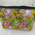 Ladies Clutch - Evening, Day, Wedding, Race Day, Garden Party -Mustard Floral