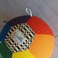 Balloon Ball: Rainbow Dots & Dash with Black/White Taggie