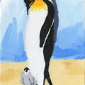 PENGUIN NR 1   An Original Acrylic Painting on Canvas Board