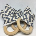 Teething Ring - Bunny Ears Teether - Baby Shower Gift- Christmas Present