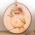 Native Australian Animals Rustic Wood Slice Ornaments