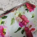 Ladies Clutch - Evening, Day, Wedding, Race Day, Garden Party - Soft Green Flora