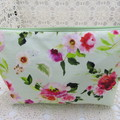Ladies Clutch - Evening, Day, Wedding, Race Day, Garden Party -Mint Floral
