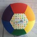 Balloon Ball: Rainbow: Dots & Dash with rainbow white centre