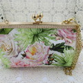 Ladies Clutch - Evening, Day, Wedding, Race Day, Garden Party - Blush Rose