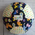 Balloon Balls: Butterflies, Flowers & Rainbow dots (on Navy)