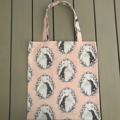 Pale pink unicorn shopping bag
