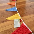 Crocheted Bunting for Doorways or Windows-BRIGHTS