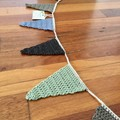 Crocheted Bunting for Doorways or Windows-EARTH