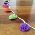 Crocheted Bunting for Doorways or Windows-HEARTS