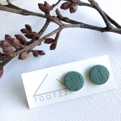 """Sage""  Lobe Lollies - Textured Mini Studs - Earthy Collection"