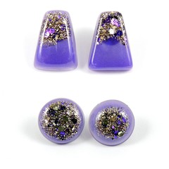Purple & gold studs