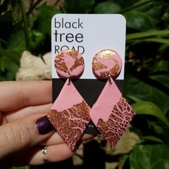 Pink and rose gold dangles