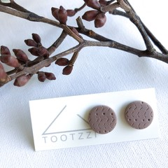 """Mauve""  Lobe Lollies - Textured Mini Studs - Earthy Collection"