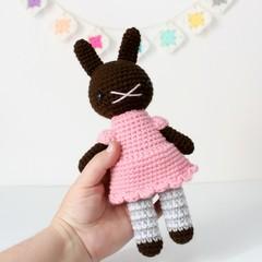 crochet animal, amigurumi doll, amigurumi rabbit toy, crochet doll .. ALICE