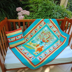 No 76 - Aussie Mates QUILT/PLAY MAT  AND CUSHION 126CMS X 97CMS
