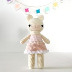 amigurumi, stuffed plush toy, cat kitty amigurumi, crochet plushie .. JOSSIE