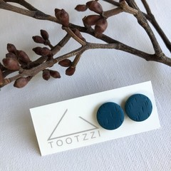 """Teal""  Lobe Lollies - Textured Mini Studs - Earthy Collection"