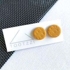 """Honey Mustard""  Lobe Lollies - Textured Mini Studs - Earthy Collection"