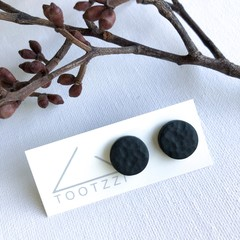 """Black""  Lobe Lollies - Textured Mini Studs - Earthy Collection"