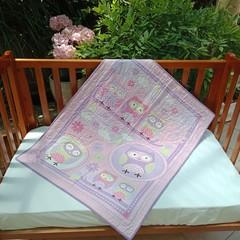 No 85 - Owls Purple/Pink quilt/play mat     102CMS X 107CMS