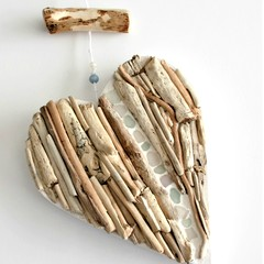 Wooden Coastal Mosaiced Wall Hanging ....