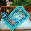 NO. 26 - SEA OCTOPUS QUILT/PLAY MAT AND CUSHION 115CMS X 79CMS