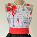 Paris Vintage Style Womens Kitchen Apron FREE POST!