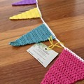 Crocheted Bunting for Doorways or Windows-UNICORN