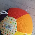 Balloon Ball: Taggie: Rainbow Micro dot with Rainbow spot centre. White tags