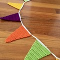 Crocheted Bunting for Doorways or Windows-BOLD