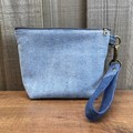 Upcycled Denim Heart Pouch