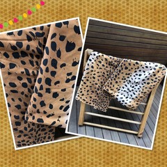 Made to order -DELUXE 4 PANEL Handmade -Fabric Kids Cubby Kit-Leopard Print