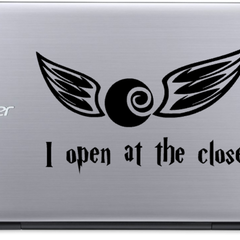 I Open At The Close - Harry Potter - Vinyl Decal Sticker