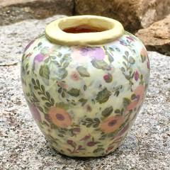 Decoupage Petite Urn - pastel flowers