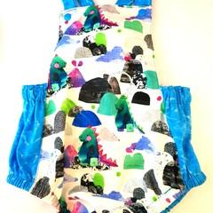 Dinosaur glitter romper/overalls onesie cotton baby toddler